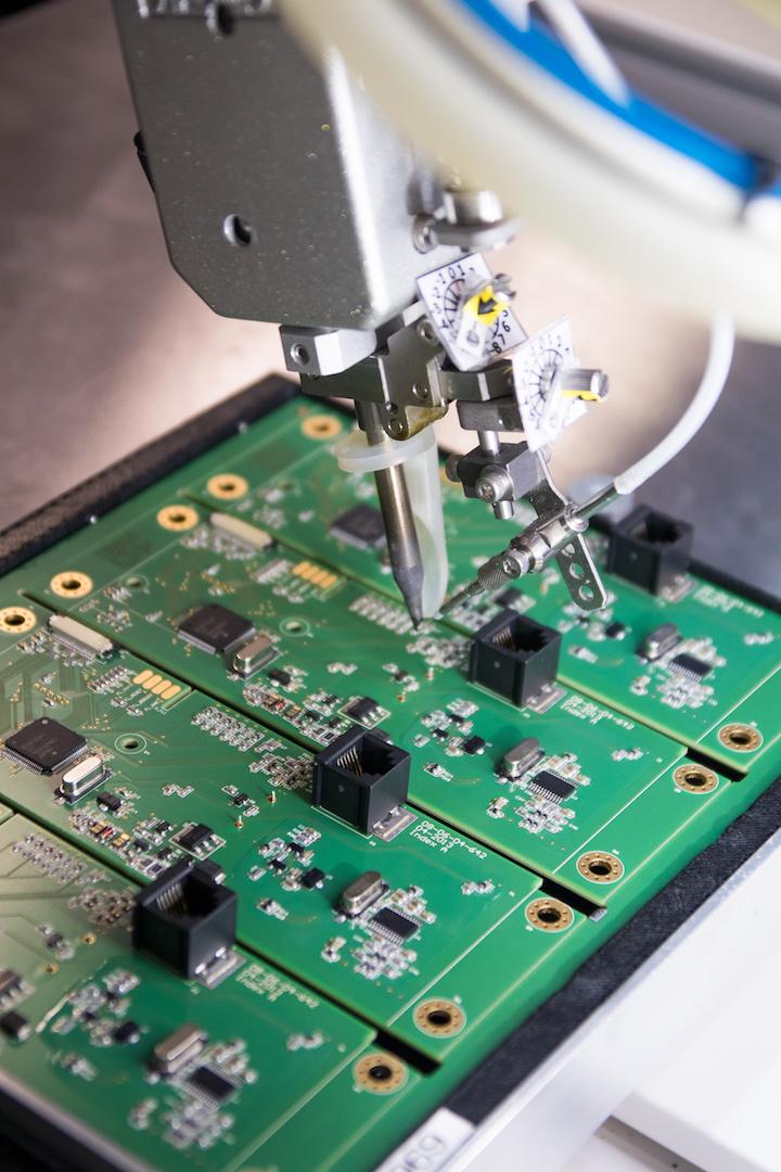 Elektronikfertigung, Lötroboter, Lötprozess