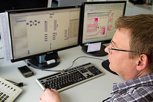 SMD-Bestückung, Design-Evaluierung, Bestückung digital simuliert